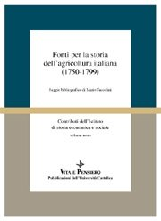 1750-1799 Fonti per la storia dell'agricoltura italiana