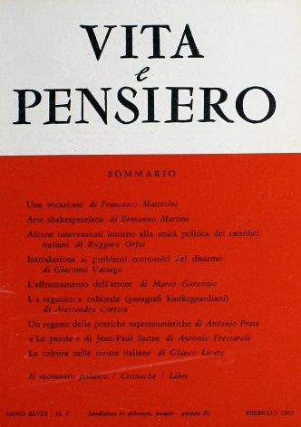 Alcune osservazioni intorno alla unità politica dei cattolici italiani