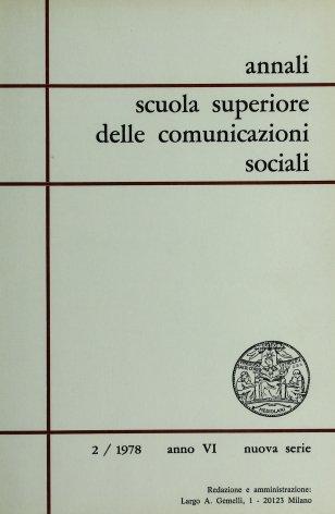 ANNALI SCUOLA SUPERIORE DELLE COMUNICAZIONI SOCIALI - 1978 - 2