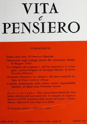 Appunti di vita religiosa in Italia