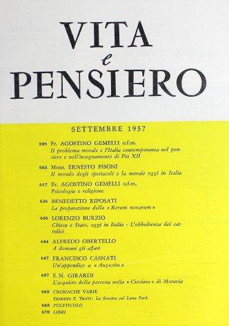 Chiesa e Stato oggi in Italia - L'obbedienza dei cattolici