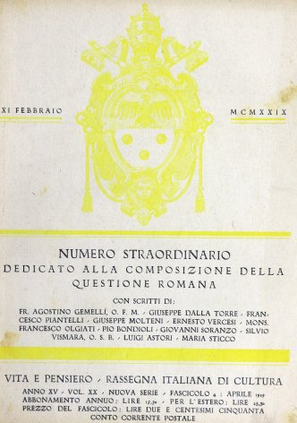 Come si è giunti al concordato (1920-1929)