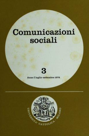 COMUNICAZIONI SOCIALI - 1979 - 3