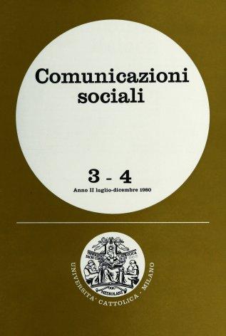 COMUNICAZIONI SOCIALI  - 1980 - 3-4