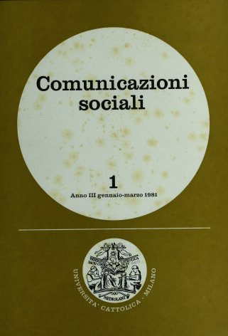 COMUNICAZIONI SOCIALI - 1981 - 1