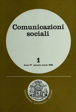 COMUNICAZIONI SOCIALI - 1982 - 1