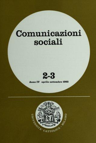 COMUNICAZIONI SOCIALI - 1982 - 2-3