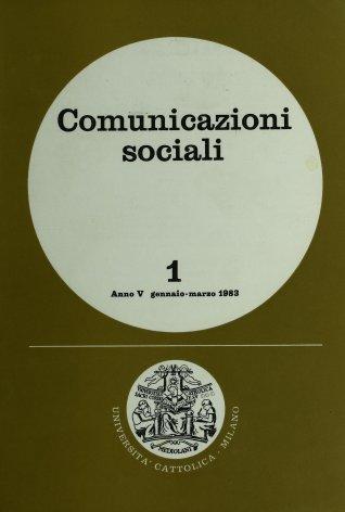 COMUNICAZIONI SOCIALI - 1983 - 1