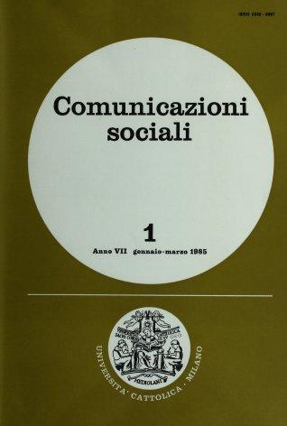 COMUNICAZIONI SOCIALI - 1985 - 1