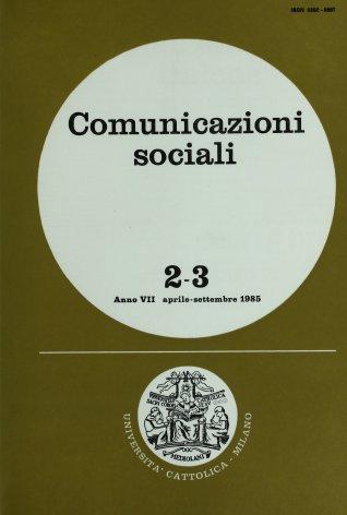 COMUNICAZIONI SOCIALI - 1985 - 2-3. EDUCAZIONE E TEATRO