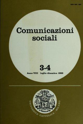 COMUNICAZIONI SOCIALI - 1986 - 3-4. LA PAROLA RESPONSABILE