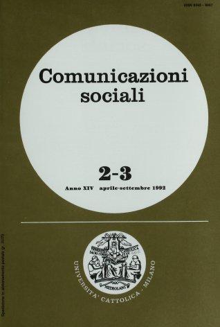 COMUNICAZIONI SOCIALI - 1992 - 2-3. PAROLE SUL VIDEO