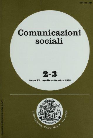 COMUNICAZIONI SOCIALI - 1993 - 2-3. FORME DELLA SCENA BAROCCA