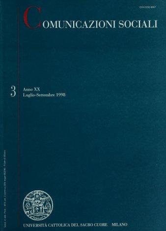 COMUNICAZIONI SOCIALI - 1998 - 3. ORAZIO COSTA GIOVANGIGLI
