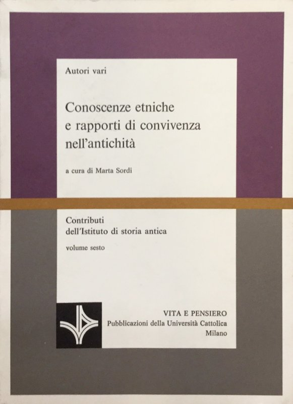 Contributi dell'Istituto di storia antica -  volume secondo