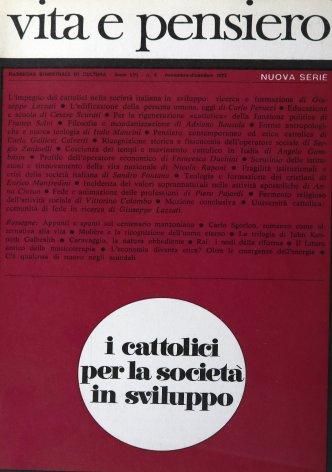 Coscienza dei tempi e movimento cattolico in Italia