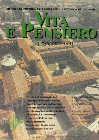 Documento finale della XLI Settimana Sociale. I Cattolici italiani e la nuova giovinezza dell'Europa