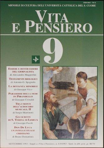 Don De Luca: una personalità cristiana nel mondo intellettuale