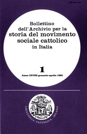 Elenco di pubblicazioni edite in Italia nel 1989-1991 sulla cultura e l'azione economico-sociale dei cattolici italiani nel secondo dopoguerra