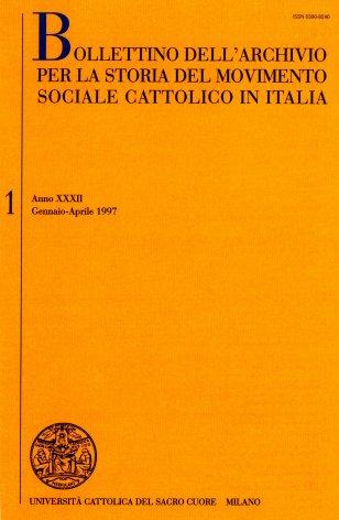 Elenco di pubblicazioni edite in Italia nel 1994-1995 sulla cultura e l'azione economico-sociale dei cattolici italiani nel secondo dopoguerra