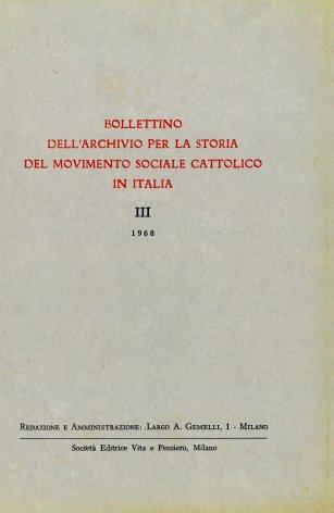 Elenco di pubblicazioni sul movimento sociale cattolico edite in Italia dal 1945 al 1966