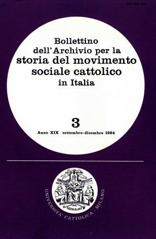 Elenco di pubblicazioni sul movimento sociale cattolico edite in Italia nel 1983