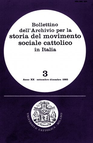 Elenco di pubblicazioni sul movimento sociale cattolico edite in Italia nel 1984