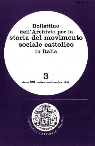 Elenco di pubblicazioni sul movimento sociale cattolico edite in Italia nel 1985