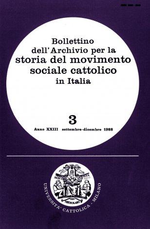 Elenco di pubblicazioni sul movimento sociale cattolico edite in Italia nel 1987