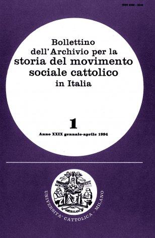 Elenco di pubblicazioni sul movimento sociale cattolico edite in Italia nel 1992