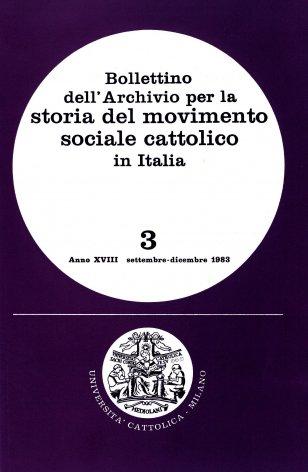 Elenco di pubblicazioni sul movimento sociale cattolico edite in Italia nel 1982