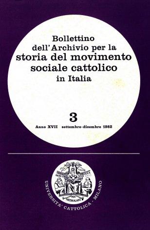 Elenco di studi sul movimento cattolico apparsi in alcune riviste estere (1980-1981)