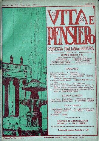 Fatti e commenti: I cattolici tedeschi e Ludendorff - Un omaggio involontario - L'abolizione del califfato - Il Card. Bourne.