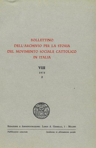 Fonti per la storia del movimento sociale cattolico biellese negli archivi di Oropa