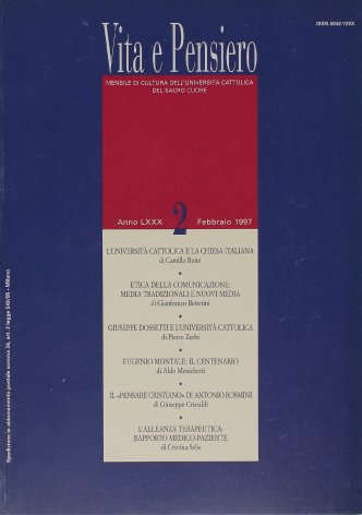 Giuseppe Dossetti e l'Università cattolica. Ricordi, documenti, riflessioni