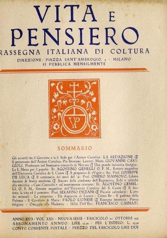 Gli accordi tra il Governo e la S. Sede per l'Azione Cattolica