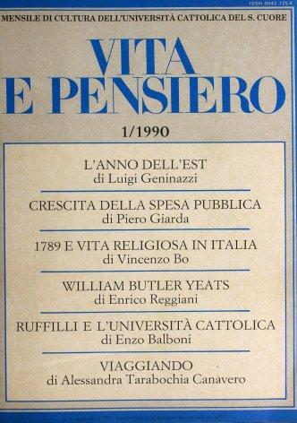 Gli anni di Roberto Ruffilli all'Università Cattolica