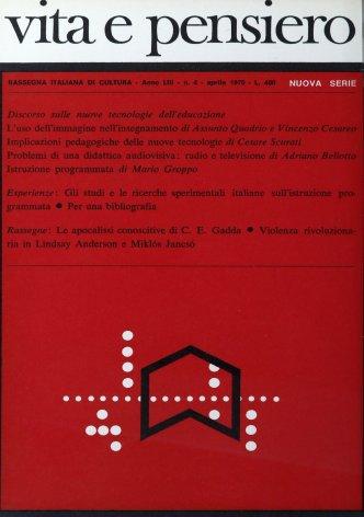 Gli studi e le ricerche sperimentali italiane sulla istruzione programmata