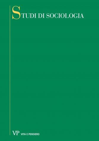 I collegamenti della sociologia dell'educazione italiana con la riflessione scientifica in ambito internazionale: alcuni appunti