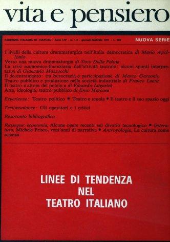 I livelli della cultura drammaturgica nell'Italia democratica