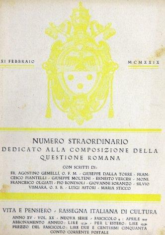 I nuovi rapporti fra l'Italia e la Santa sede