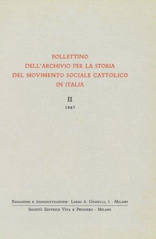 I primi fondi costituiti presso l'Archivio per la storia del movimento sociale cattolico in Italia