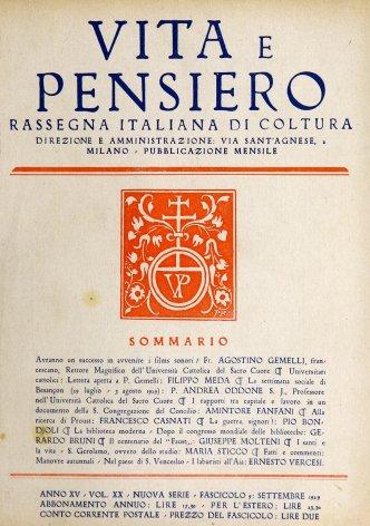 I rapporti tra capitale e lavoro in un documento della s. Congregazione del concilio