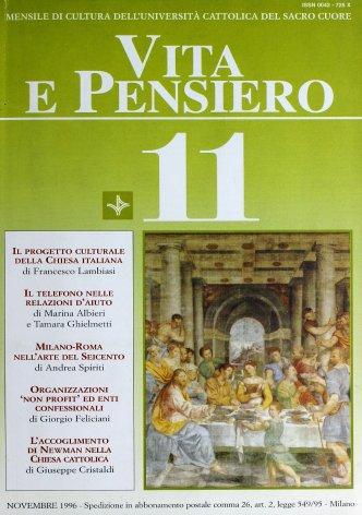 II progetto culturale della Chiesa italiana