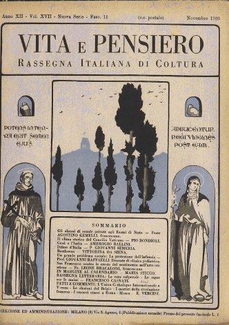 Il clima storico del Concilio Vaticano