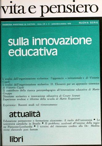 Il contributo della ricerca psicopedagogica all'innovazione educativa