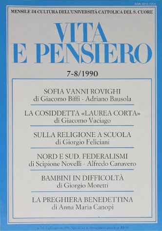 Il federalismo italiano. Da oggi a ieri