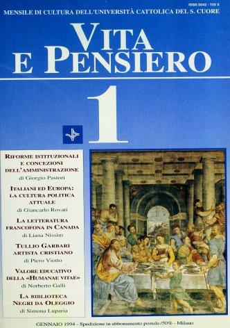 Il Fondo Negri da Oleggio della biblioteca dell'Università Cattolica