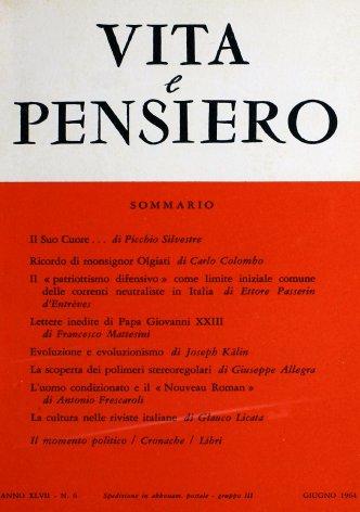 Il «patriottismo difensivo» come limite iniziale comune delle correnti neutraliste in Italia