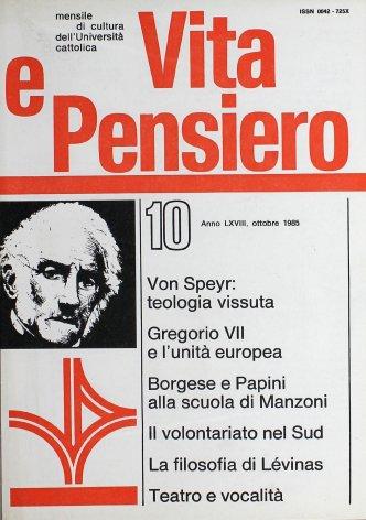 Il modello della conversione: Papini e Borgese di fronte al Manzoni
